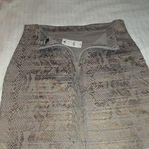 Express Skirts - Express Snake Print Skirt